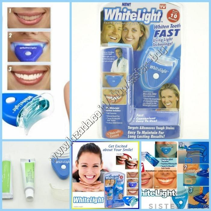White Light Pemutih Gigi / Whitelight Whitening Teeth / Whitelight Fast Pemutih Gigi / White Light Tooth Whitening System / Whitelight Pemutih Gigi Ajaib / White Light Pemutih Dan Penghilang Plak Gigi By Sister Bag.