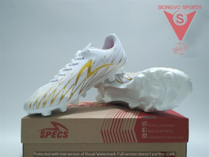 SEPATU BOLA - SPECS FLASH 19 FG ORIGINAL 100877 WHITE GOLD NEW 2018 af8b902faa