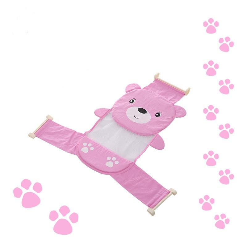 Sb.id Jaring Mandi Bayi Lucu Model Bear / Alat Bantu Mandi Bayi / Baby Net Bath Helper By Supplierbatam.id.