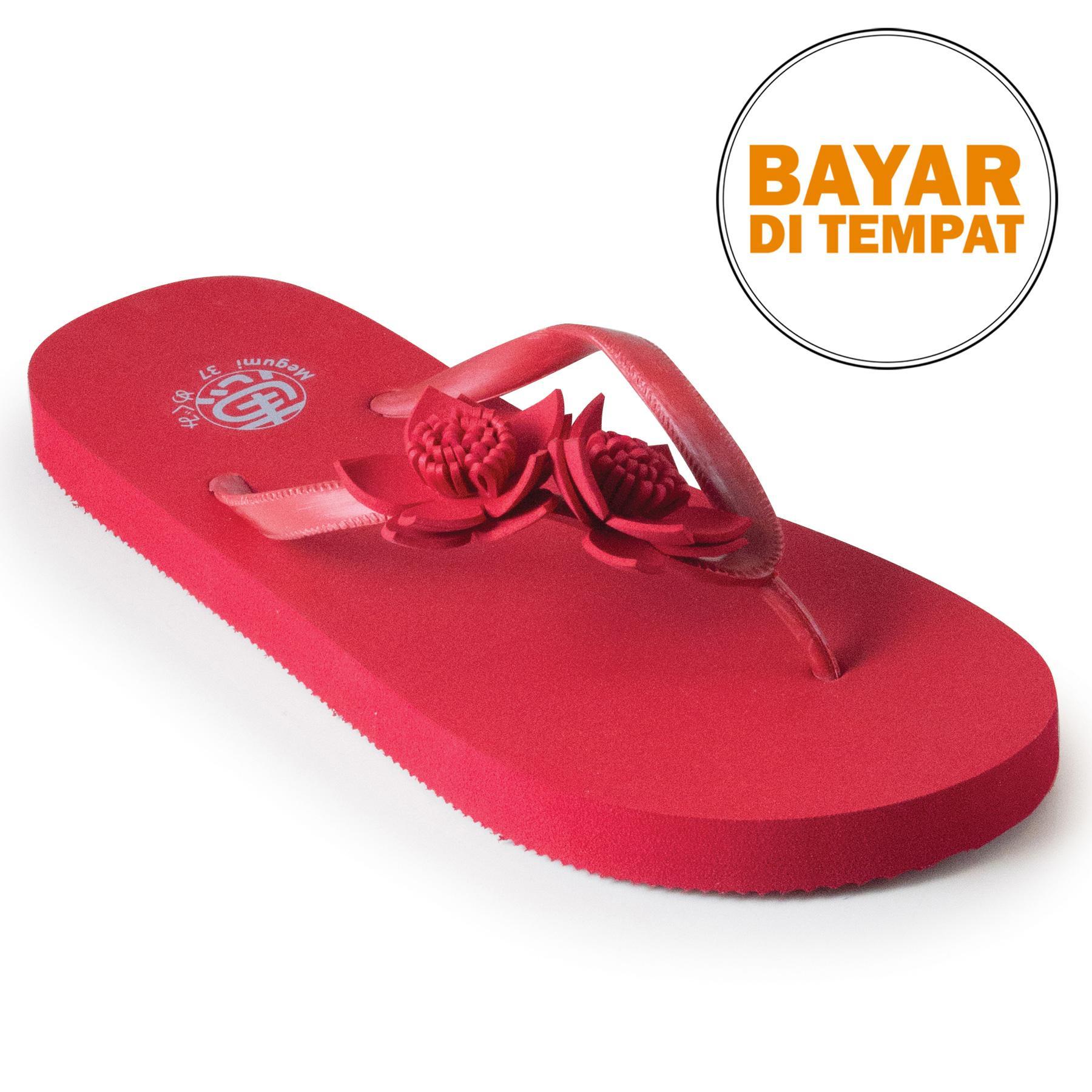 Megumi Linnea - Sandal Jepit Wanita - Red
