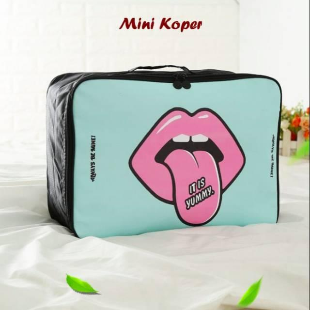 Tas Koper Mini Portable Korean Style / Tas Travel By Poka Berry Shop.