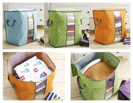 Storage Box Organizer Bag / Tempat Penyimpanan Baju Pakaian Selimut Bed Cover Serbaguna