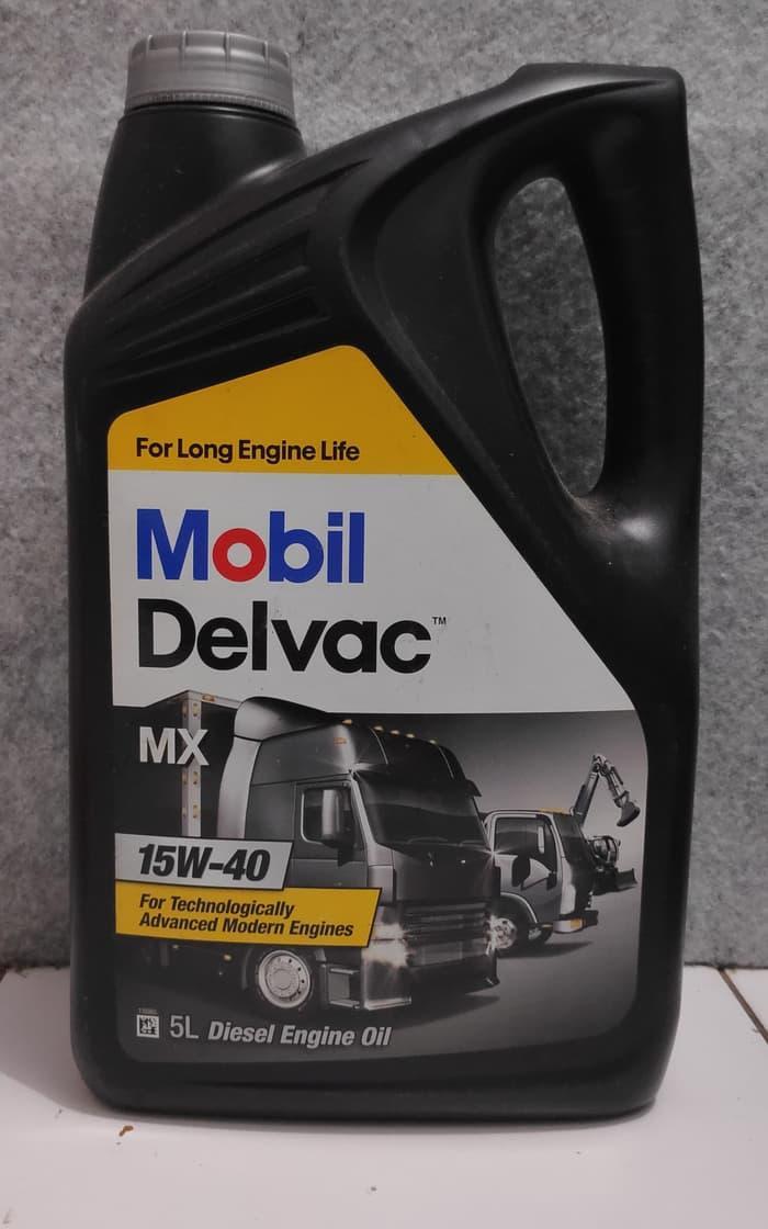 Oli Mesin - Mobil Delvac MX 15W-40 (5 liter)