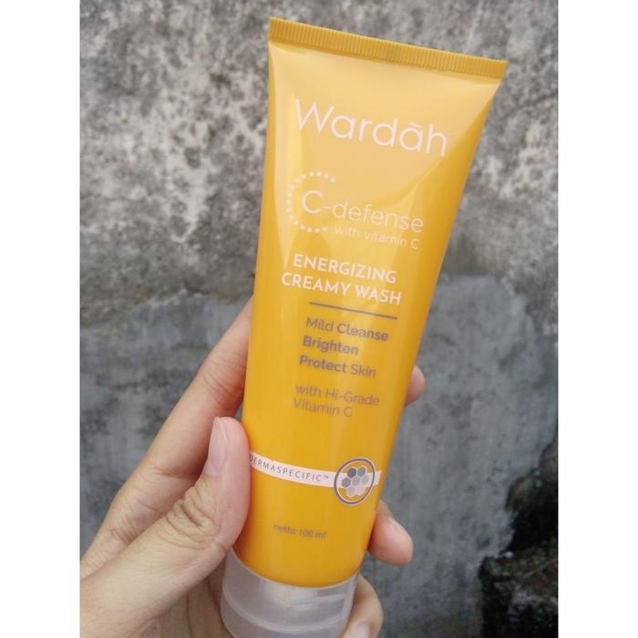 Wardah C-Defense Energizing Creamy Wash 100ml / Cleanser Kulit Cantik Terawat / Produk Kesehatan Kecantikan / Perawatan Kulit / Pembersih Wajah  NZ64070
