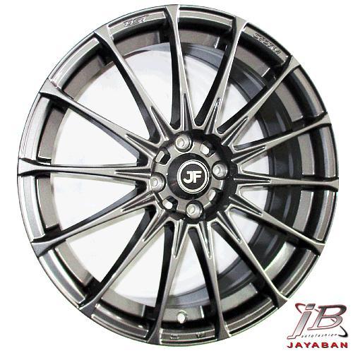 Velg racing ring 17 inch JFF02 4x100 ENTENG mobil Jazz, Yaris, Swift