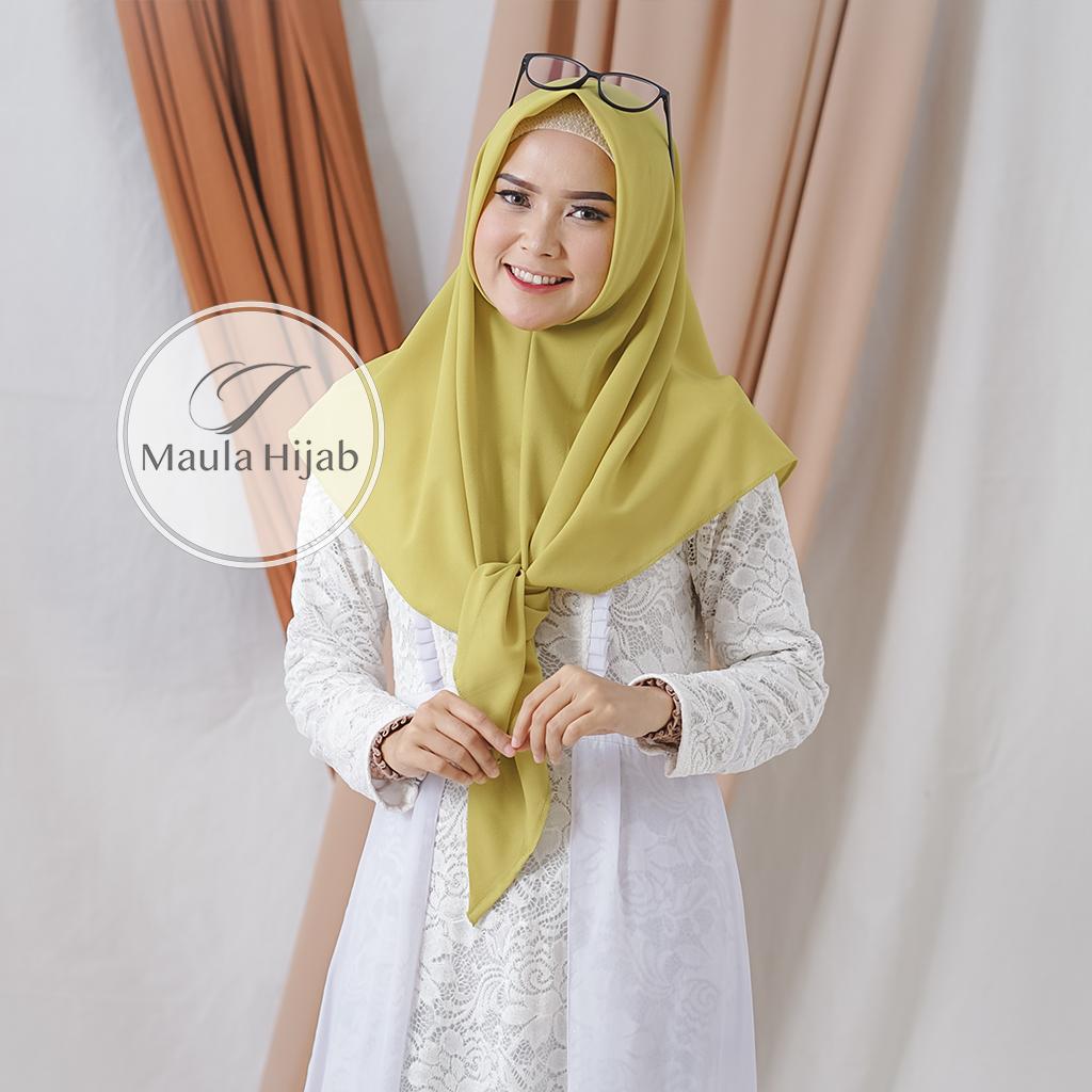 SEGITIGA INSTAN Maula Hijab Jilbab Kerudung Terbaru 2019 SEGITIGA Segi Tiga INSTAN Instant Diamond Georgette Berkualitas Trend Style Lebaran 2019 PROMO Termurah Tangan Pertama