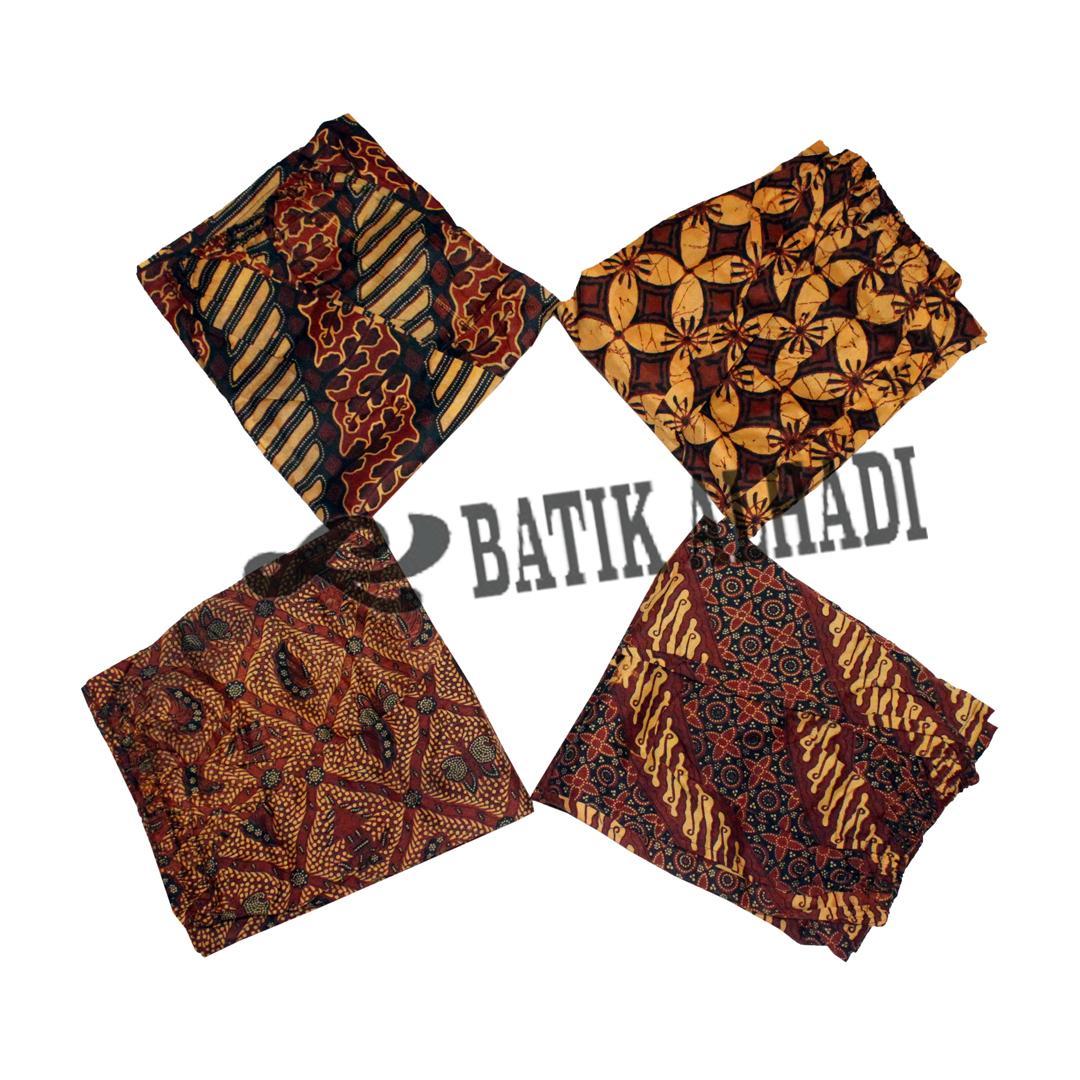 Celana Pendek Batik Pria (cpbt001) Batik Alhadi By Batikalhadi Online.