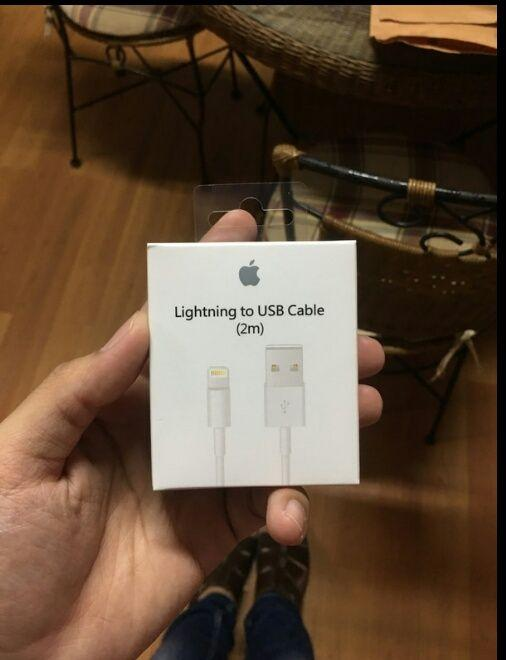 Kabel Data Charger USB LIGHTNING APPLE iPhone 5s 5 6 6Plus 6S 7 7Plus X 7s iPad 4 5 iPad Mini 1 2 3 4 iPad Air Pro 2M 2 Meter ORIGINAL APPLE BNIB Cable Cas Casan Hp Handphone