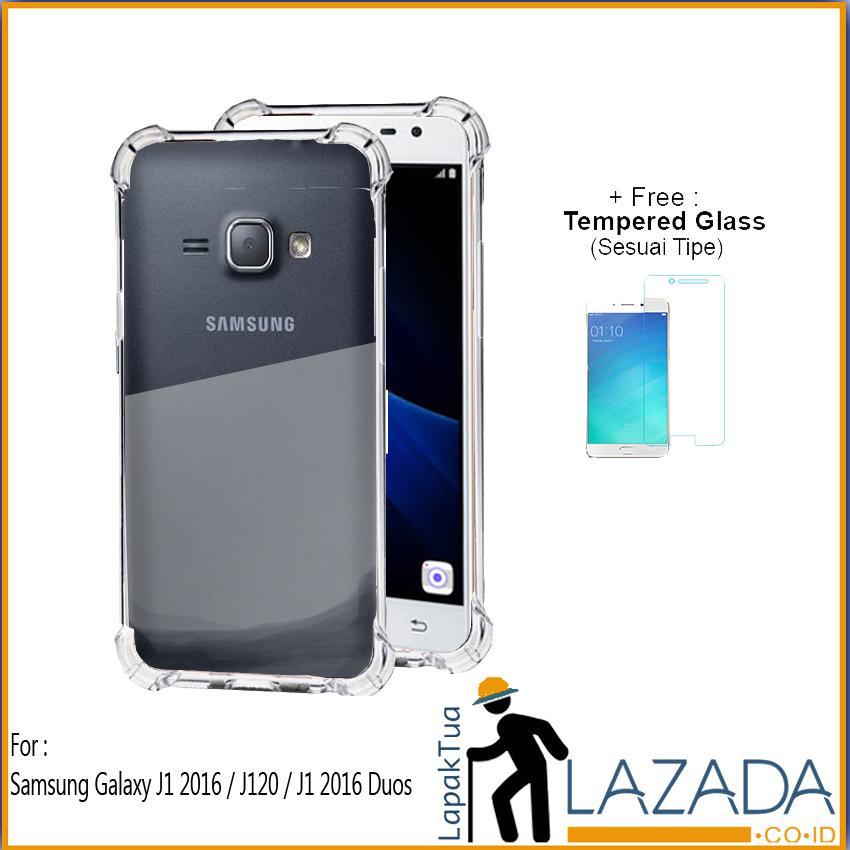 Lapak Case - Softcase Anti Crack Silikon Casing Anticrack Anti Bentur Terbaik Untuk Samsung Galaxy J1 2016 / J120 / J1 2016 Duos / J120F FREE Tempered Glass