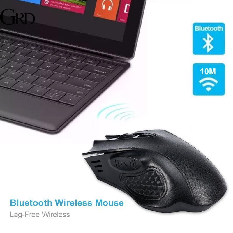 GRAND MacBook 2.4GHz Bluetooth Mouse Control PC Rechargeable Computer Premium Leather Grain Portable Mute Optical Mice