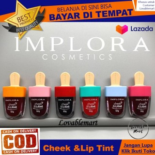 IMPLORA Cheek & Lip Tint 6 varian warna - 1 pc Lovablemart Bisa Bayar di Tempat LAZ COD Beauty Cosmetic Lipcream Lipstick Kosmetik Make Up Set Murah Lipstik Lip Cream Matte Perona Bibir Cantik Mempesona thumbnail