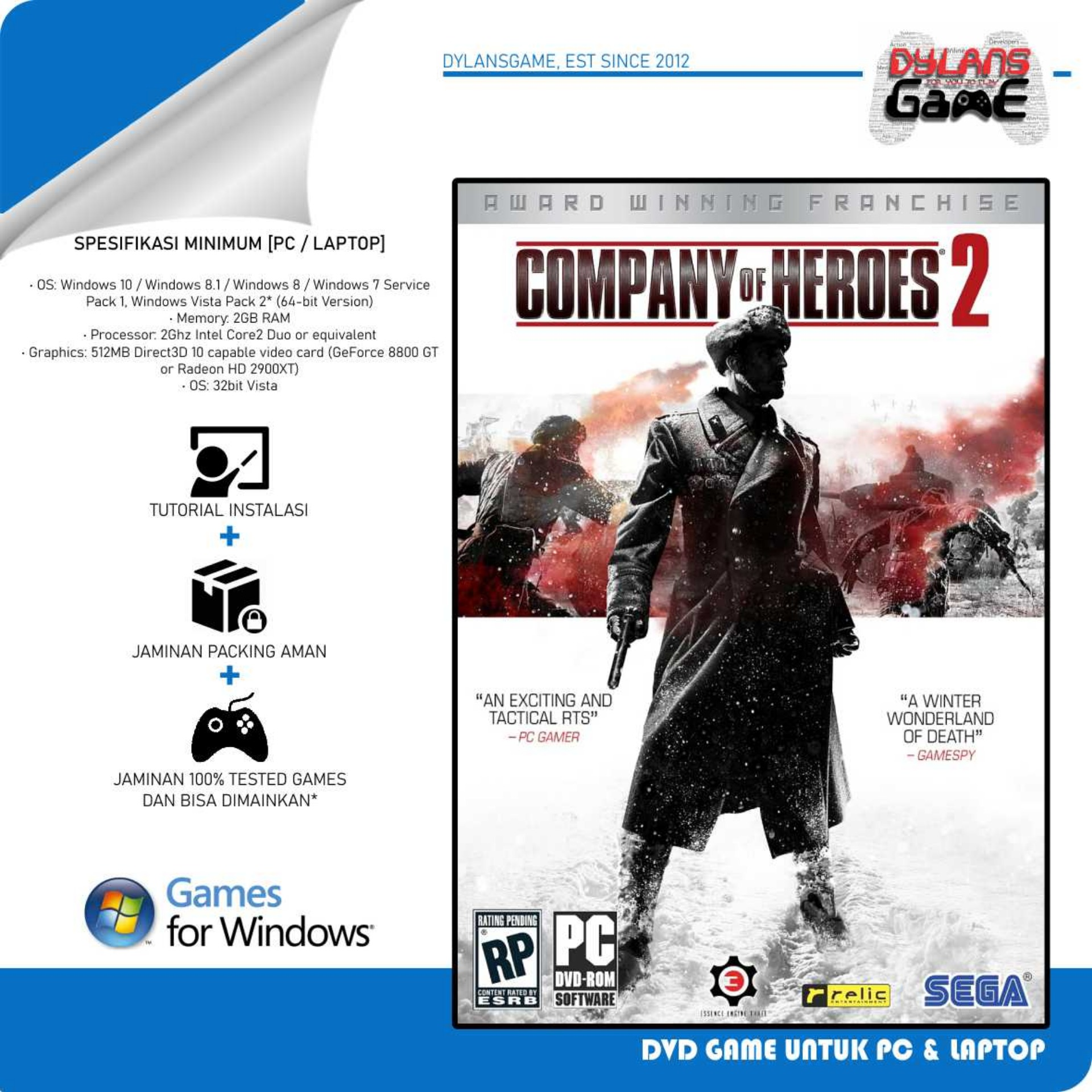 Company Of Heroes 2 Master Collection Pc Game Dvd Game Pc Laptop Lazada Indonesia