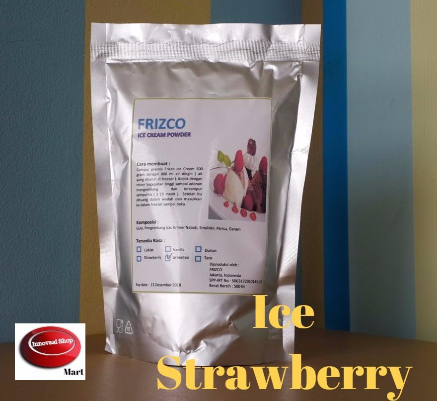 Frizco Strawberry Ice Cream Powder 500gr Bubuk Es Krim Strawbery Stroberi By Innovasi Shop.