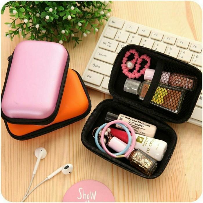 Tas Dompet Travel Carger Softcase Shockproof / Tas Earphone Case / Kotak Penyimpanan Mini Organizer Serbaguna
