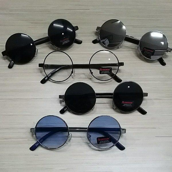 BAYAR DI TEMPAT/kaca mata pria dan wanita  Vintage Klasik Bulat Bundar rostok hitam/kacamata gaya t
