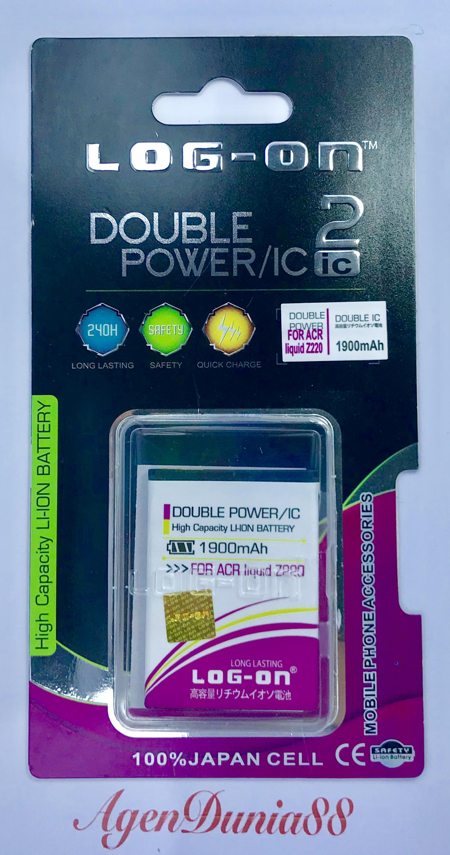 Rp 55.000. BATERAI ACER LIQUID Z200 / Z220 / Z205 / M220 / BAT-311 LOG ON DOUBLE POWER BATTERYIDR55000