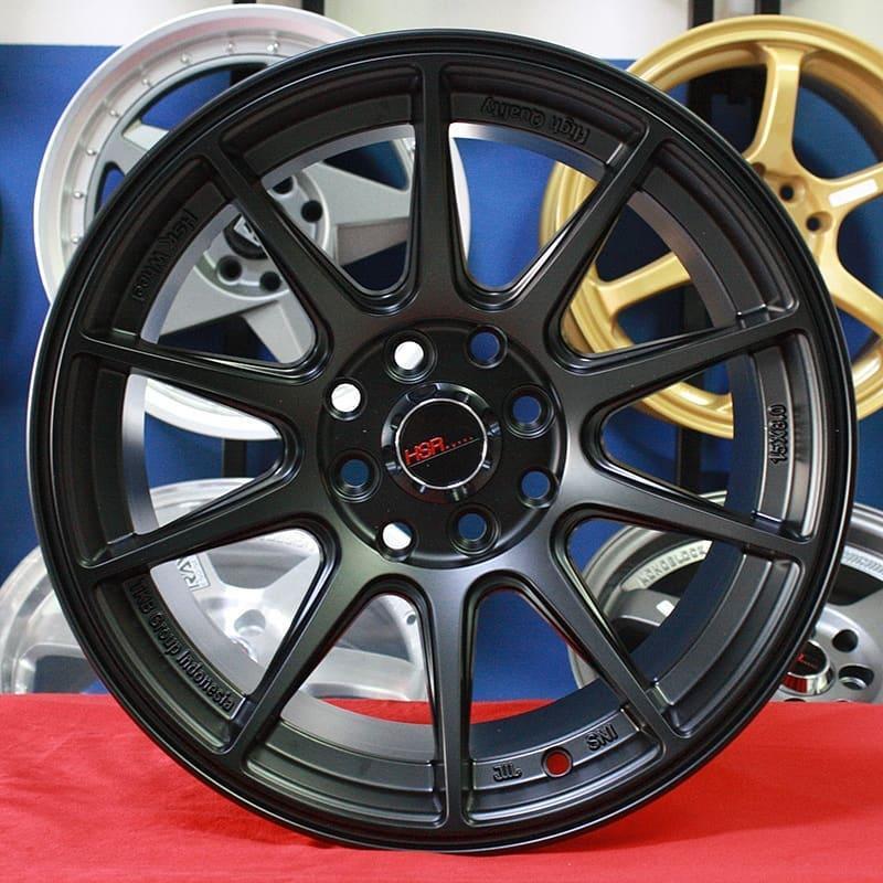 Velg Mobil Ring 16 HSRSHINJUKU Black Avanza Xenia Livina Brio RS