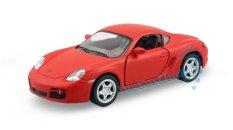 Kinsmart Porsche Cayman S Matte - Red, Skala 1:34