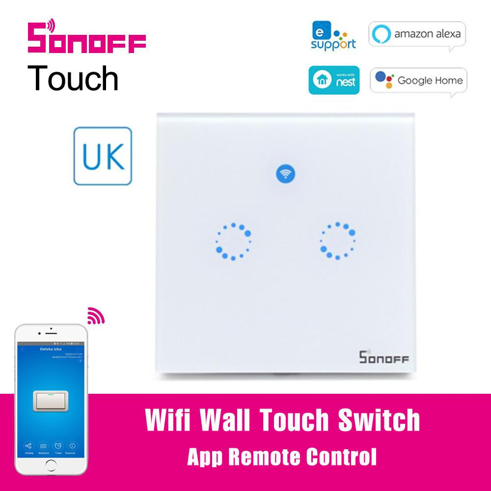 Buy Liyc [Original] Sonoff T1 UK 2 Gang Touch Wifi Wall Switch 2 Gang 433  RF APP Control Smart Home Automation Work with Alexa Google Home Malaysia