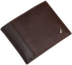Spesifikasi Nautica Men S Milled Passcase Wallet Brown Merk Nautica