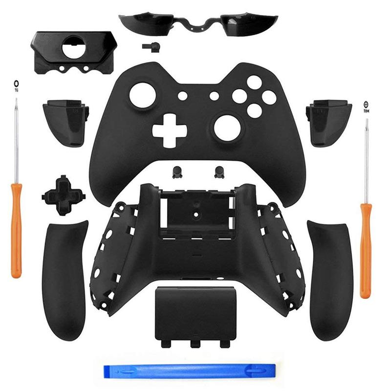 Giá Matte Black Controller Housing Shell Full Set Faceplates Buttons for Xbox One Controller with The 3.5 mm Headset Jack xbox one controller shell kit with 3.5 port