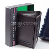 Iklan Tommy Hilfiger Mens Cambridge Trifold Wallet Brown