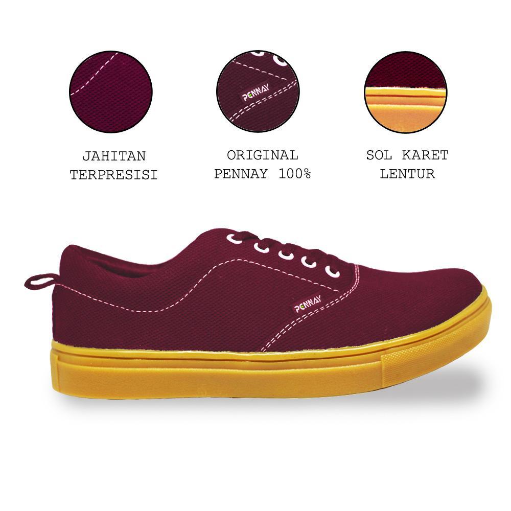 PennayOS Termurah Sepatu Kets Sneakers Kasual Pria PX-340 - Pennay Shoes Authentic Gum Series
