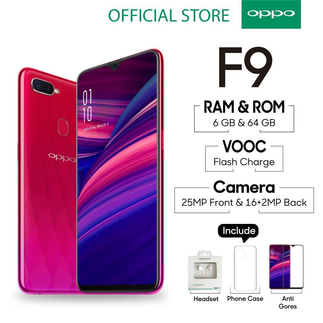 OPPO F9 6GB/64GB SMARTPHONE 25MP AI Selfie Camera  (COD, Garansi Resmi OPPO, Cicilan tanpa kartu kredit, Cicilan 0%, Gratis Ongkir)