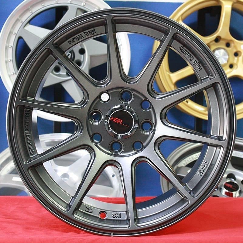 Velg Mobil Racing HSR SHINJUKU Ring 16 Grey Avanza Yaris Swift Brio Vios