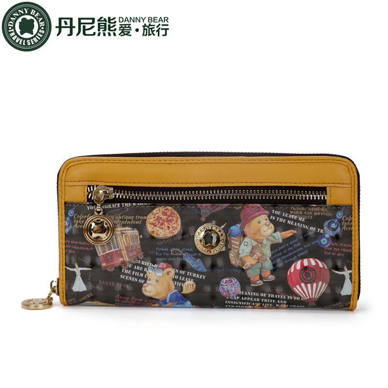 84bfba3a9 Danny Bear Single Zipper Short Wallet Purse Navy Bear Multi-functional  Simple Women's Wallet DBTB692050