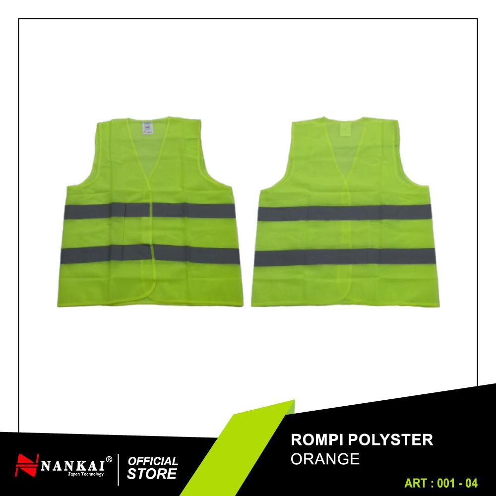 Nankai Safety Vest - Baju Rompi Proyek Pengaman Polyster Hijau Perkakas Tool By Nankaitools.
