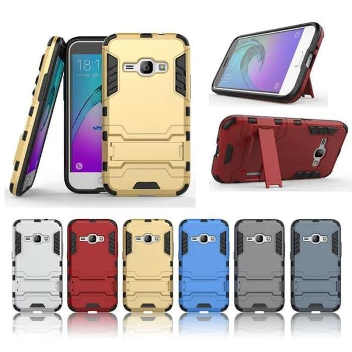 Case Ironman Series With Kick Stand Samsung Galaxy J1 Ace