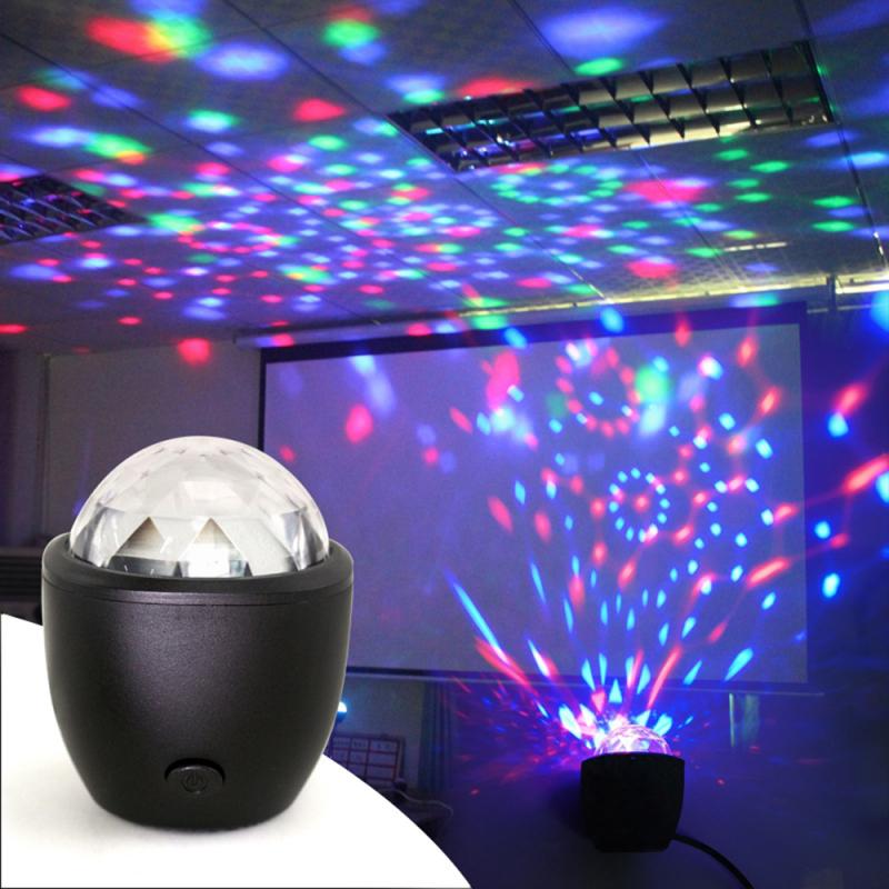 Đèn Sân Khấu Mini HappyHoMes, Đèn Disco Phép Thuật Nhiều Màu Có Âm Thanh Hỗ Trợ USB Cho Sinh Nhật, Tiệc Tùng, Buổi Hòa Nhạc