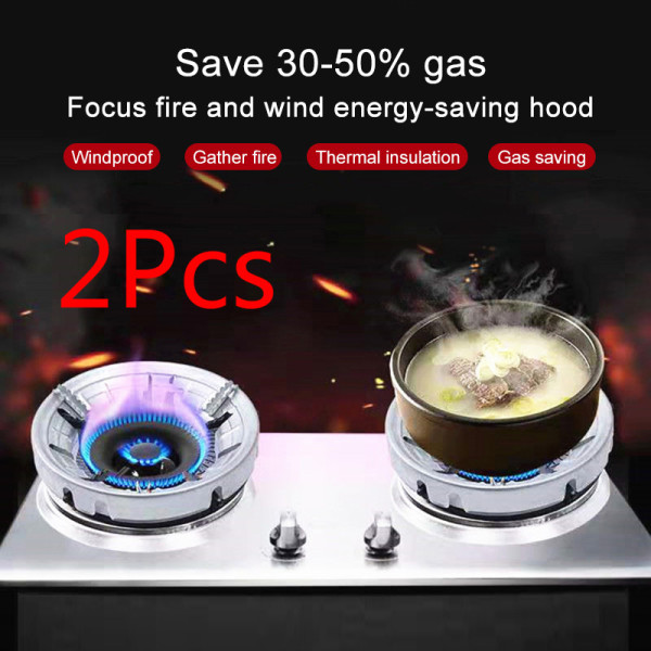 Pearly (In Stock) (Hot Sale) Gas Energy Saving Hood Stainless Steel 8-Hole Thermal Insulation Gas Stove Draft Shield Fixed Wind Shield Spotlight Reflection Cover Gather Fire Direct-injection Experiment Hood