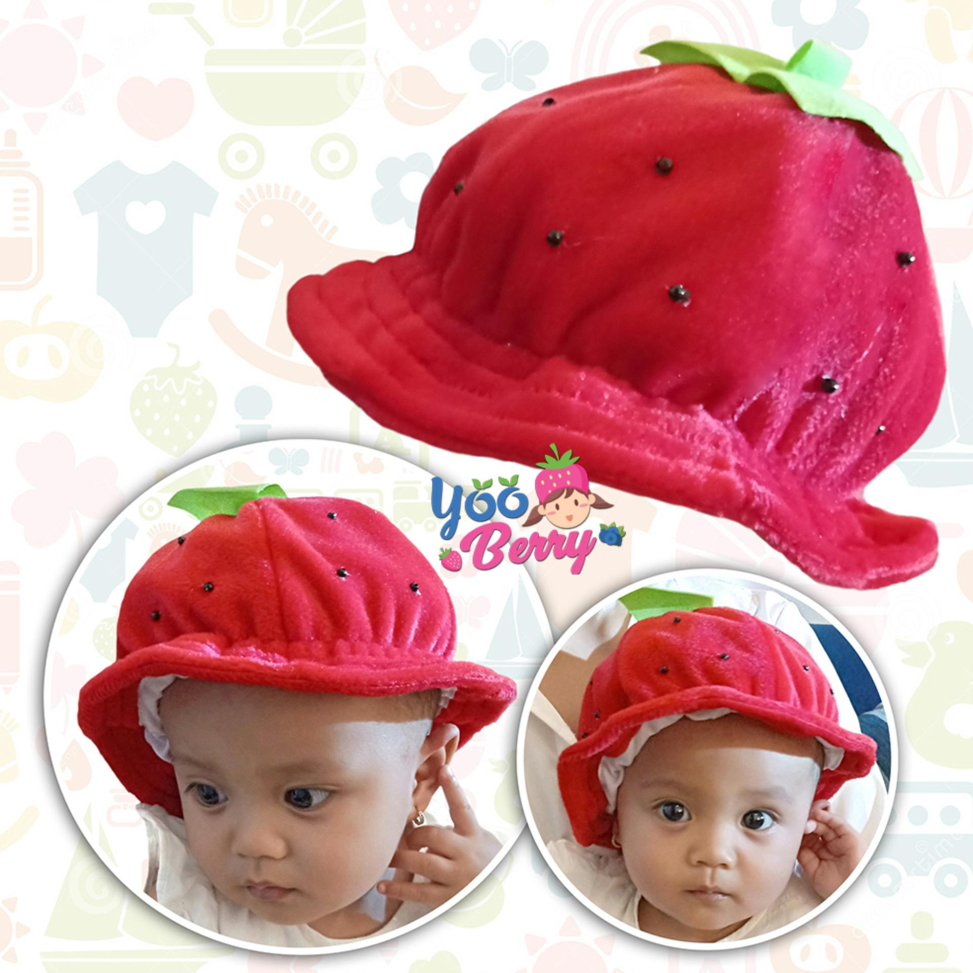 Yooberry Topi Korea Bayi Anak Pinky Strawberry By Yooberry.