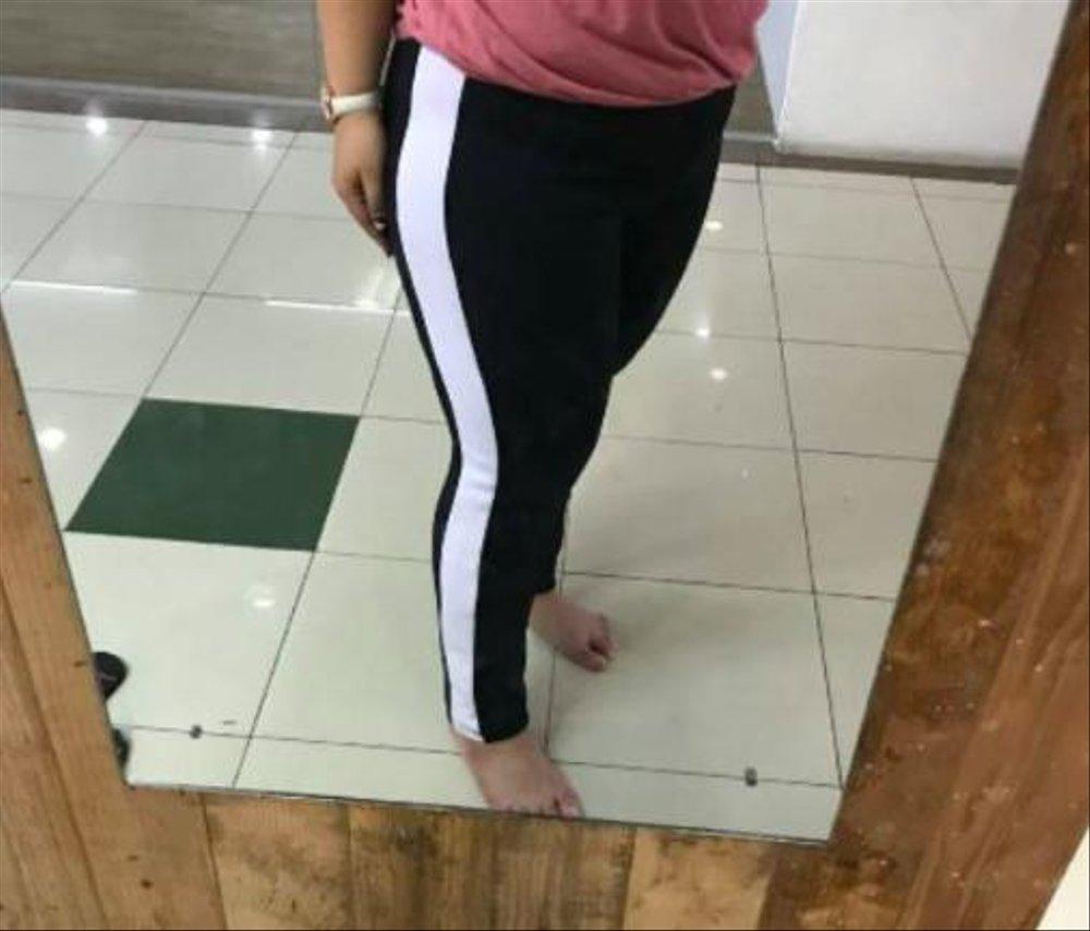 Celana Legging Luna Hitam Lis Samping Putih Rrs Harga Murah Lazada Indonesia