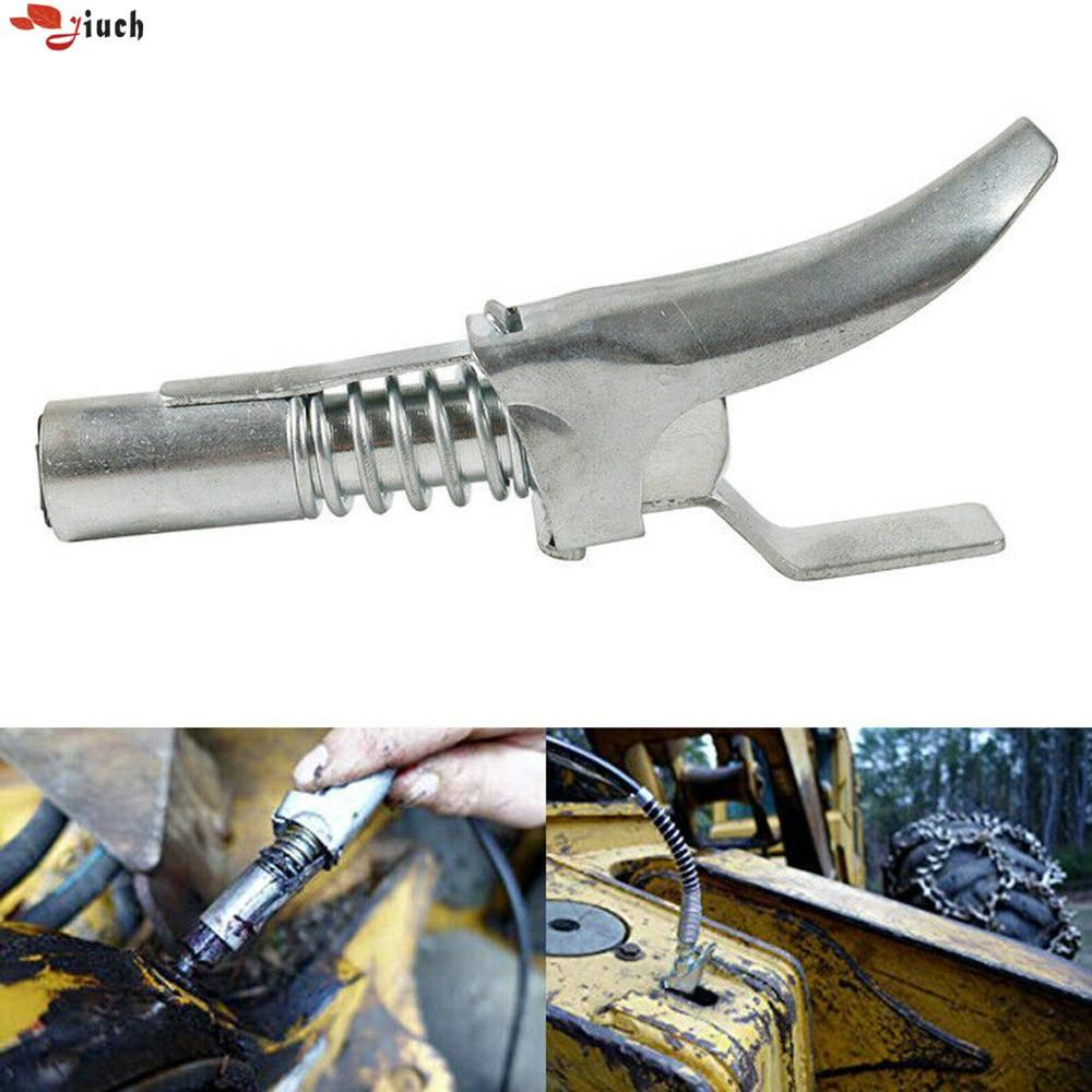 Jiuch Professional 113mm High Pressure Grease Fitting Universal Double Handle Locking Pliers High Pressure Nozzle For 1/8 NPT Connector