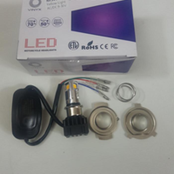 TERLARIS!!! lampu led motor vixion byson cb150r R15 tipe H4 kuning atau putih - Putih SEDIA JUGA Lampu tumblr - Lampu led - Lampu sepeda - Lampu hias
