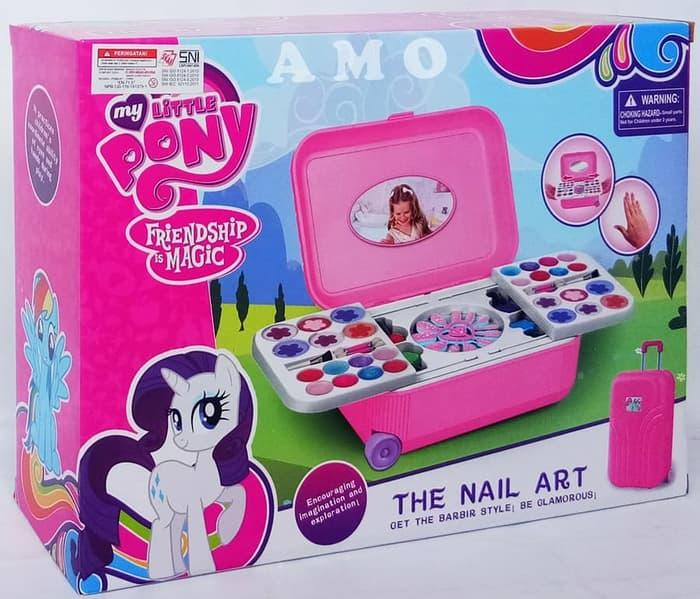 NAIL ART KOPER LITTLE PONY - MAINAN ANAK MAKE UP SET LITTLE PONY
