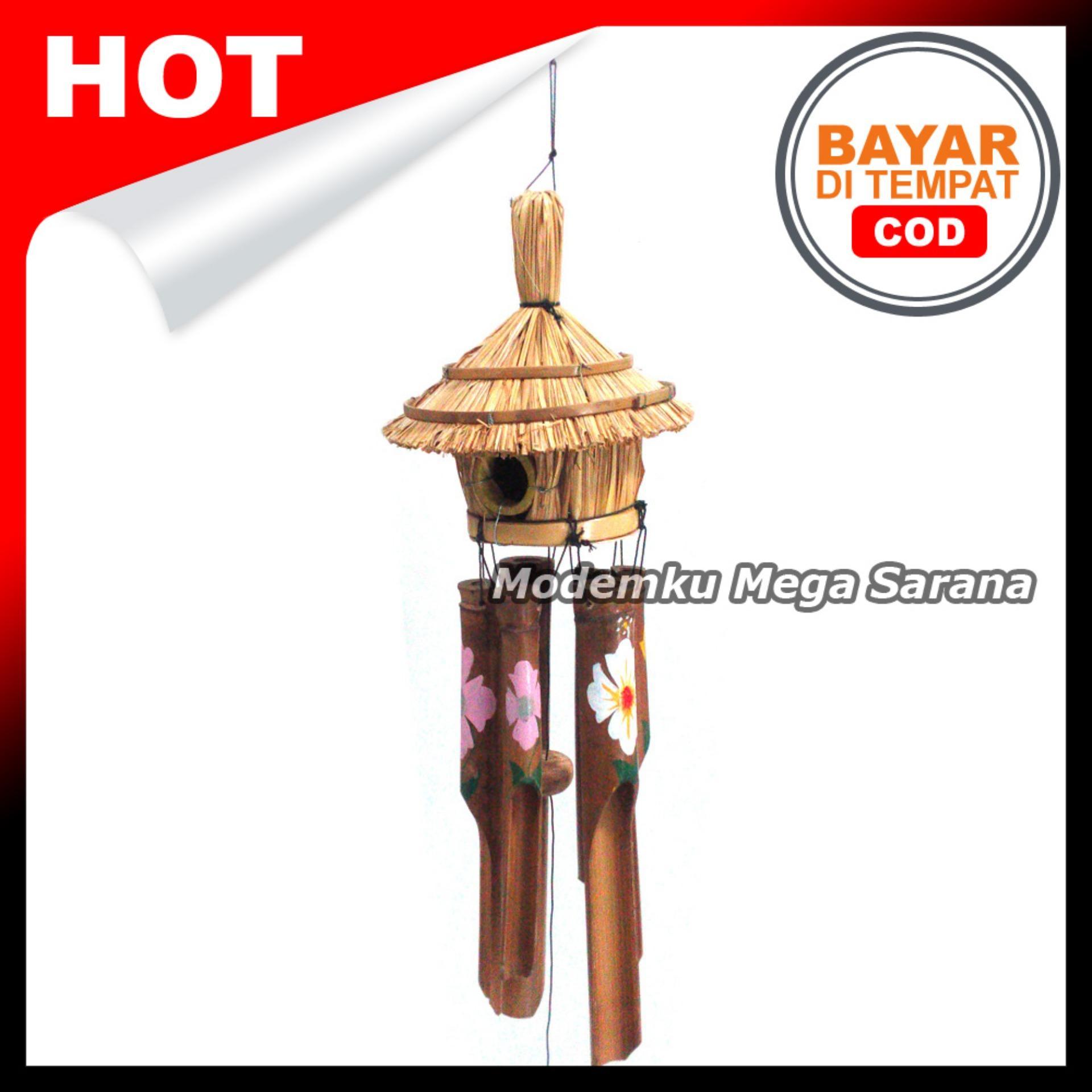 Klontong Bambu Sangkar Burung 50x18x18 cm | Genta Angin, Lonceng Angin, Wind Chime,