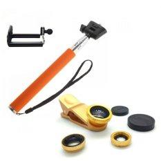 Beli Monopod Self Portraits Orange Ashutb Shutter Lens Clip Fisheye 3In1 Gold Baru