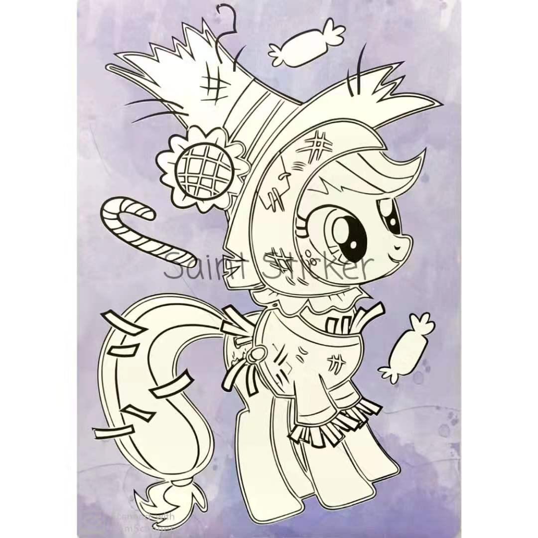Kanvas Lukis Mewarnai Drawing Canvas Anak Karakter Kartun Little Pony Lazada Indonesia