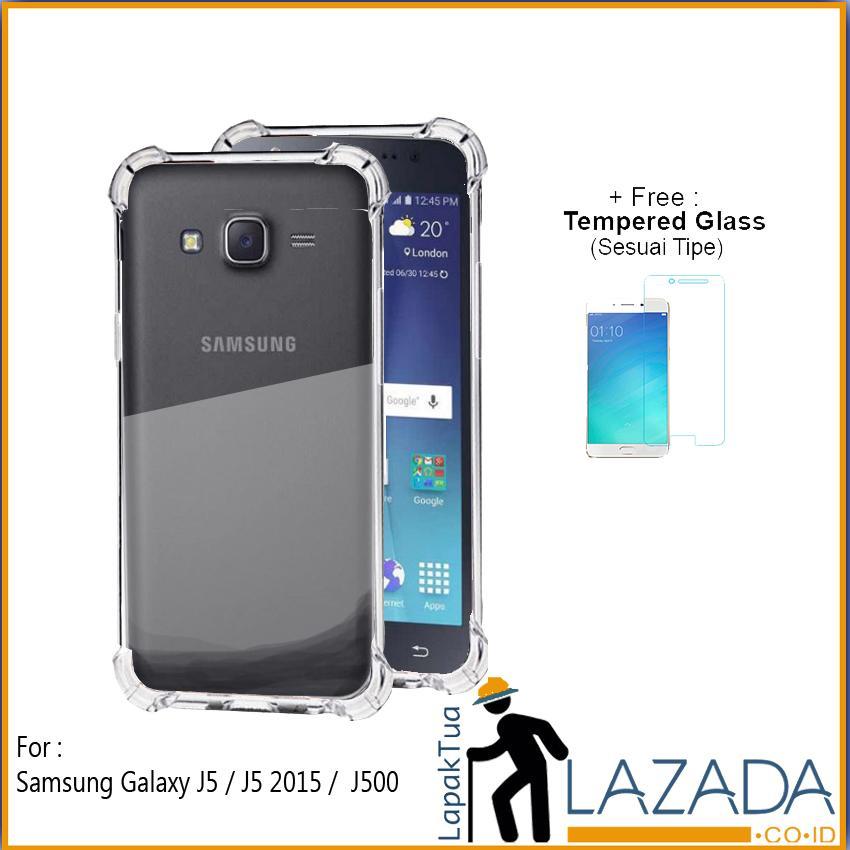 Lapak Case - Softcase Anti Crack Silikon Casing Anticrack Anti Bentur Terbaik Untuk Samsung Galaxy J5 Duos / J500 / J5 2015 / J500F / J500H / J500M / J500G Free Tempered Glass
