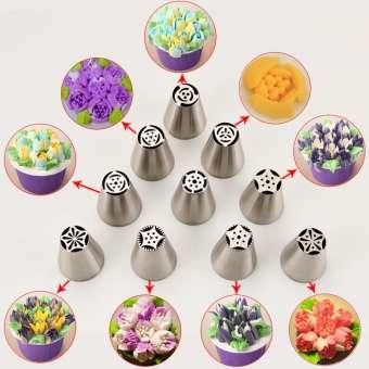 MRF หัวบีบรัสเซียลายดอกไม้เซต 53 รุ่นสหพันธรัฐรัสเซียแม่พิมพ์ integrally คุกกี้หัวบีบครีมขนมเค้กหัวบีบครีม