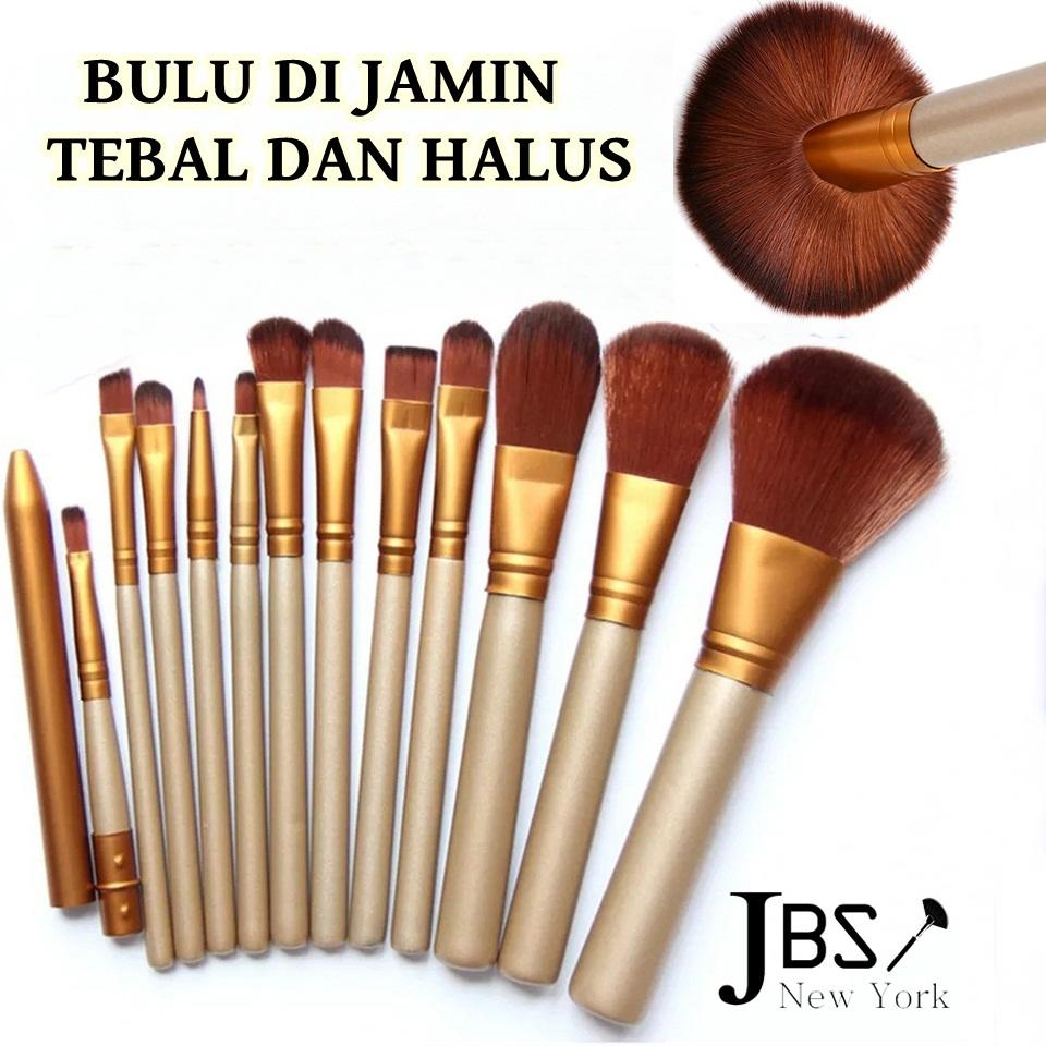 PROMO JBS Naked Brush Kuas Tanpa Kaleng Tebal Dan Halus Kuas Makeup Brush Set 12 -
