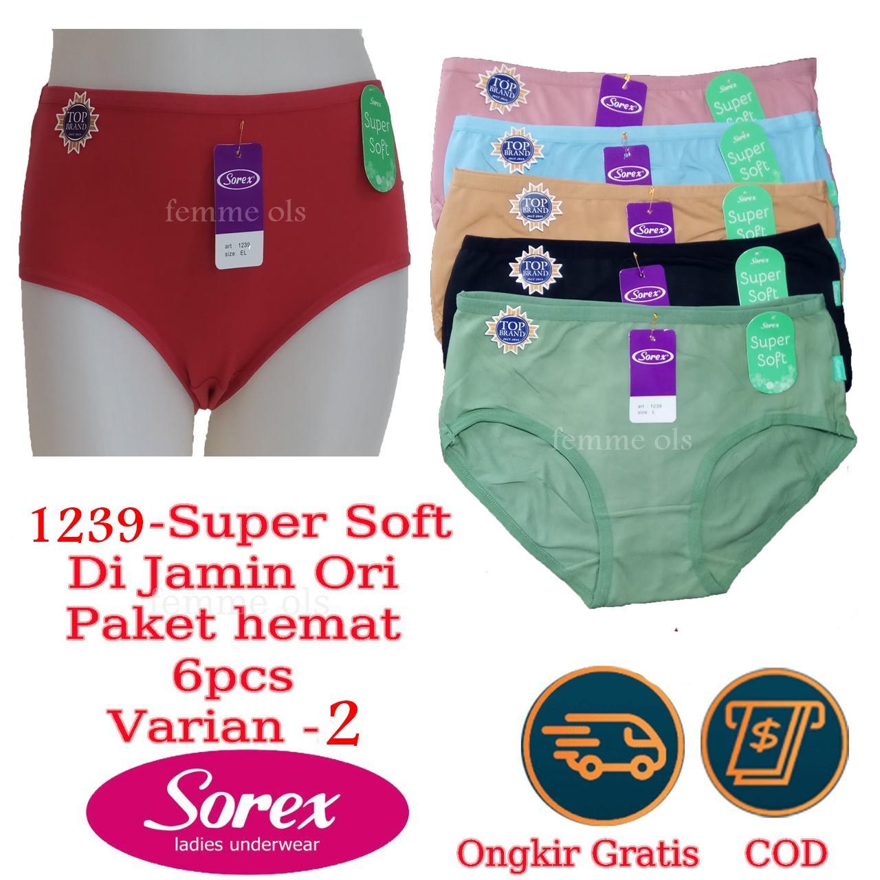 Femme Ols - 6 Pcs CD Celana Dalam Wanita SOREX Super Soft Original 1239 2e854070f1