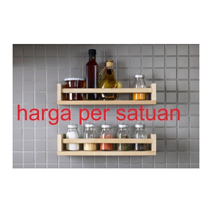Sm 5510 - Rak Bumbu Dapur / Toples Botol /rak Dinding Gantung Kayu By Megastore.