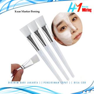 Kuas Masker Bening Dan Putih Pink Kuas Make Up Kuas Masker DIY Bulu Lembut Import thumbnail