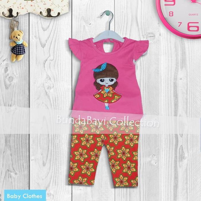 Stelan Baju Bayi motif Flower Girl 4-8 bln (AVAILABLE 4 COLOR) 0de25ded99