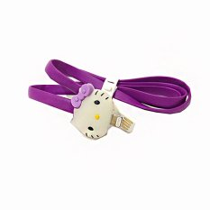 Spesifikasi Spac Cute Kitty Led Lighting Flashing Kabel Data Iphone 5 5C 5S 6 Ipad Mini Air Ungu